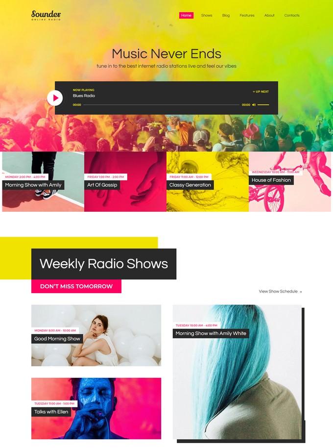 Sounder Radio WordPress Theme