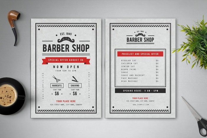 Special Barber Shop Flyer