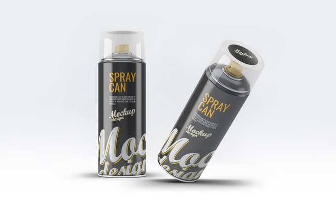 Spray Can Mock-Up PSD