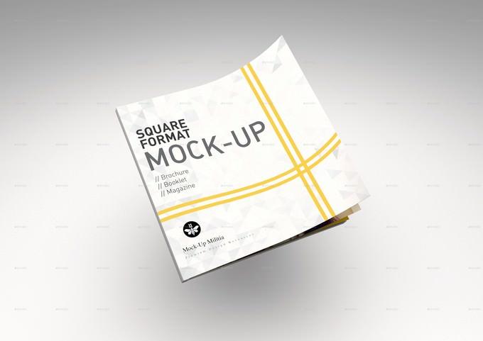 Square Booklet Mock-Up