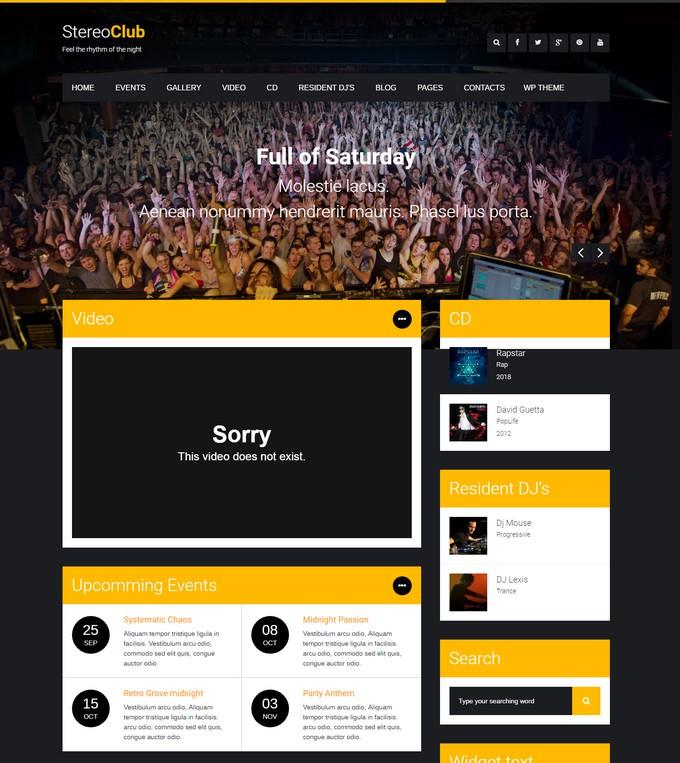 StereoClub NightClub HTML Template