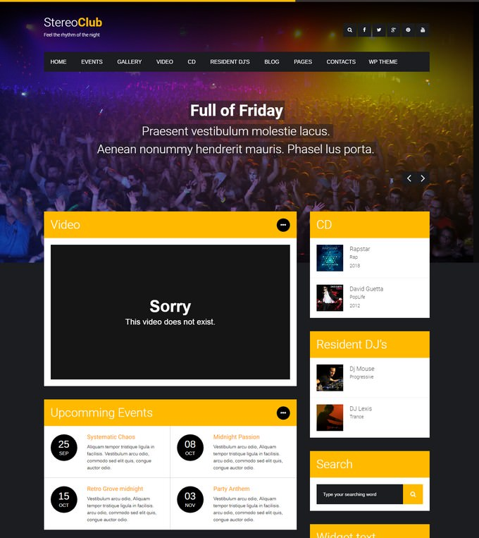 StereoClub HTML Template