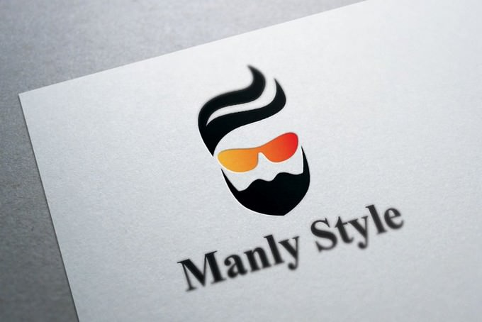Beard and Hair Logo Template