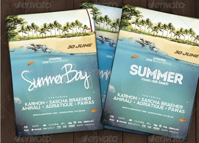 Summer Beach Flyer Template
