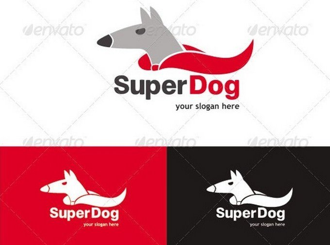 Super Dog Logo Template