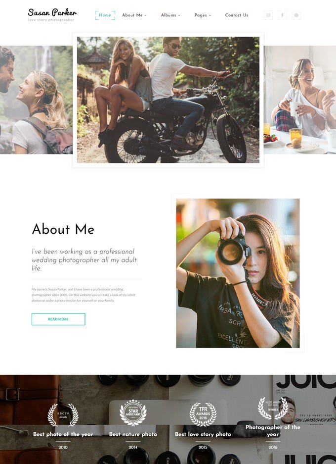 Lovestory Photographer Website Template