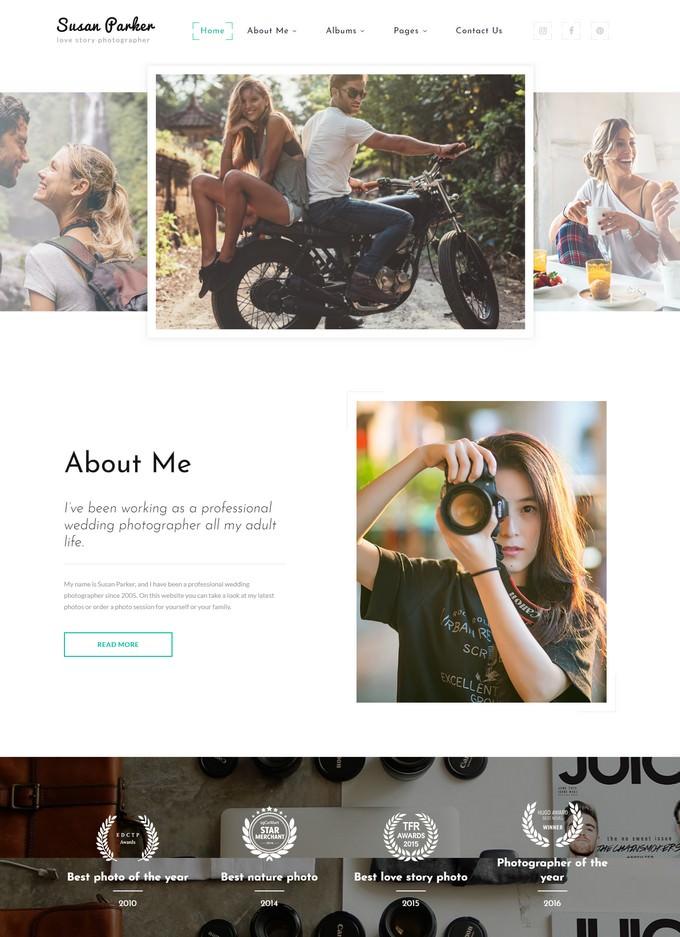 Lovestory Photographer Website Template