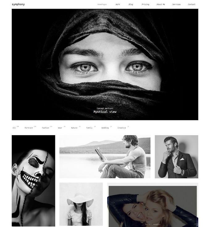 Symphony Photography Portfolio Template