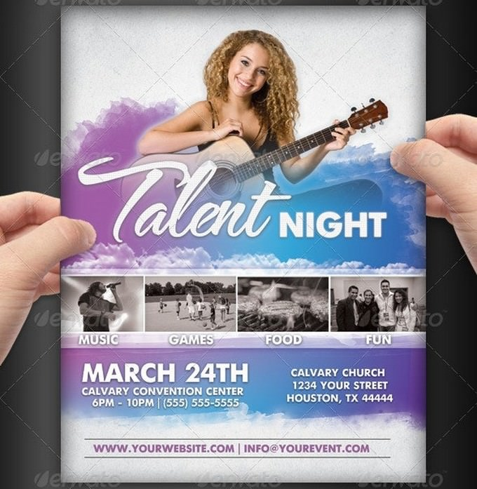 Talent Show Event Flyer Template