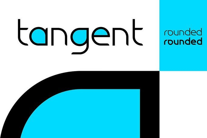 Tangential Rounded Font