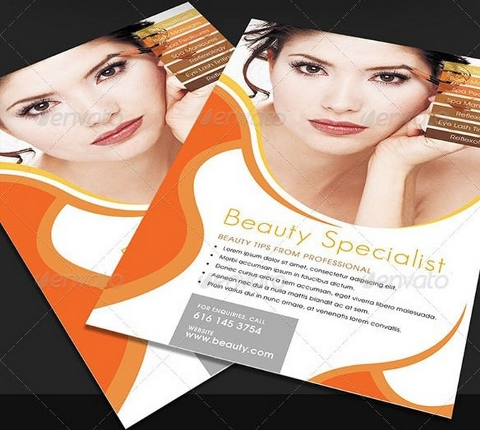 Tangerine Beauty and Cosmetic Flyer Template