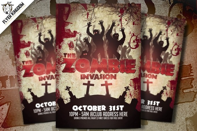 The Zombie Invasion Flyer