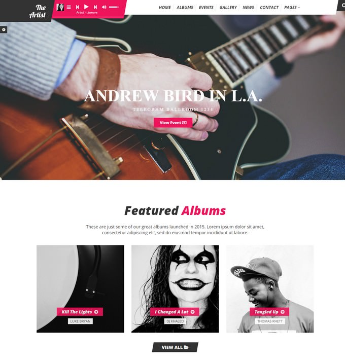 TheArtist HTML Music Template