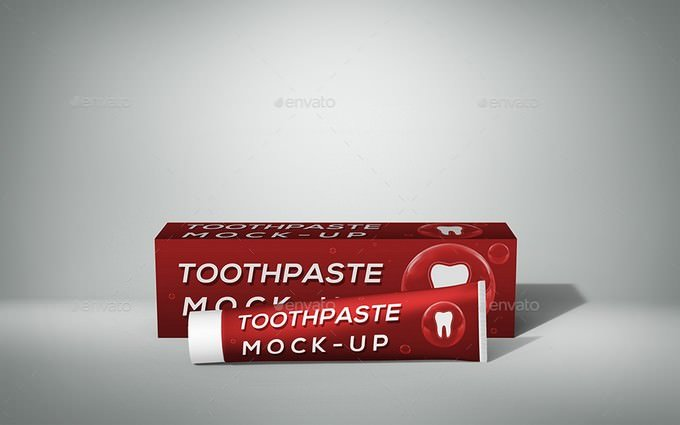 Toothpaste Mock-Up PSD