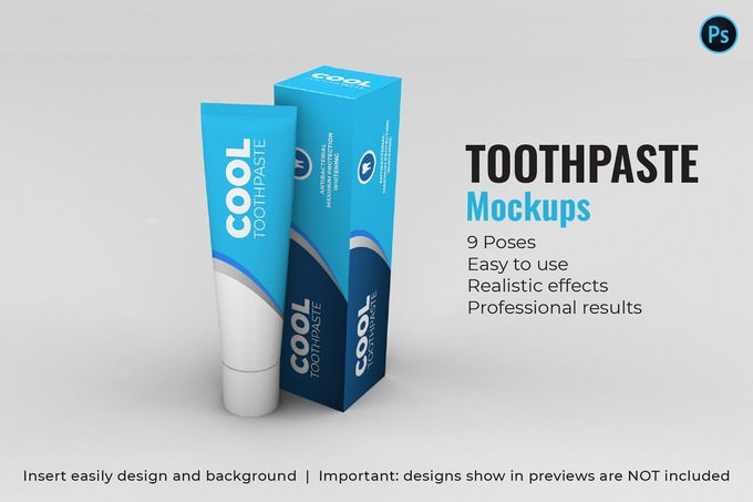 Toothpaste Mockups