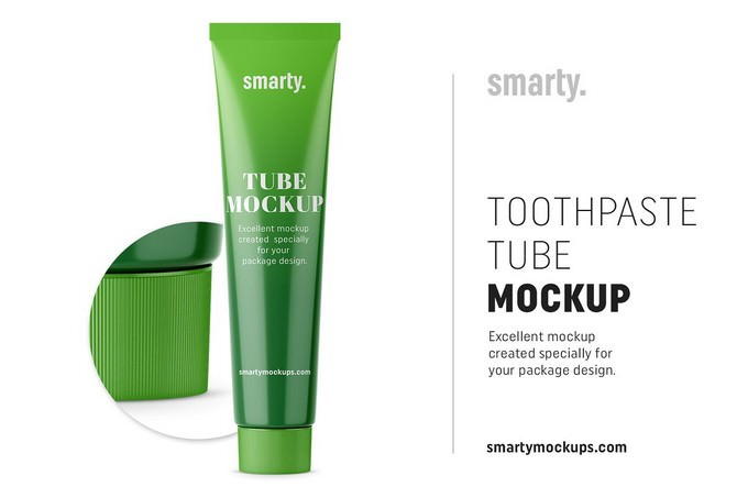 Toothpaste Tube Mockup PSD