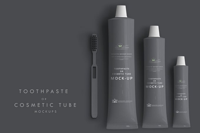 Cosmetic Tube Mockup PSD