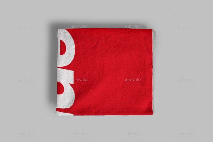 Towel 2 Sizes Mockup PSD