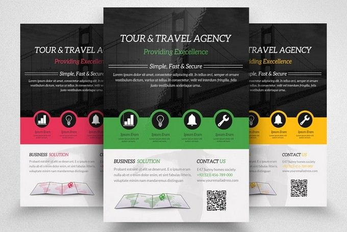 Travel Agency Flyer PSD