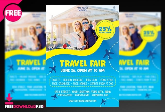 Travel Flyer PSD