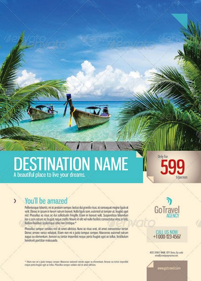 Flyer Travel PSD