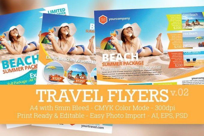 Travel Flyers PSD