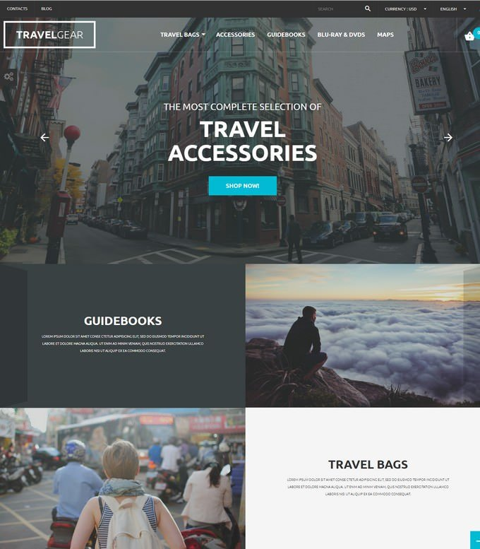 Travel Gear PHP PrestaShop Theme