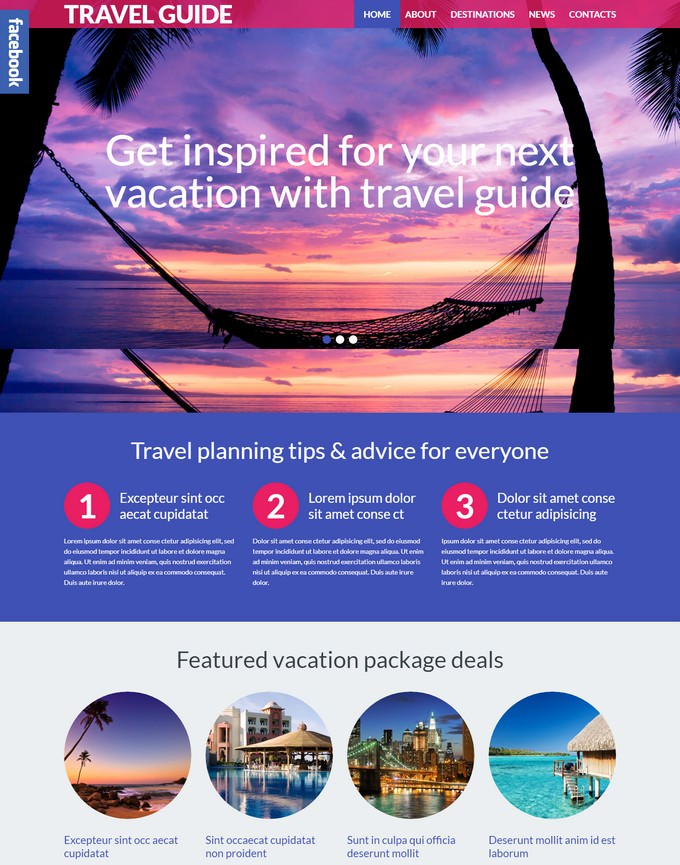 Travel Guide PHP WordPress Theme