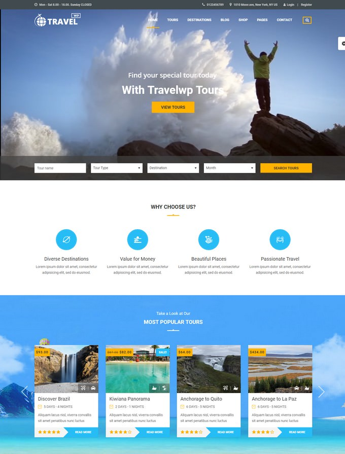 Travel PHP Theme