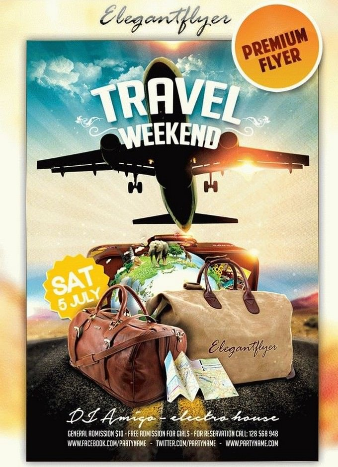 Travel Weekend Flyer Template