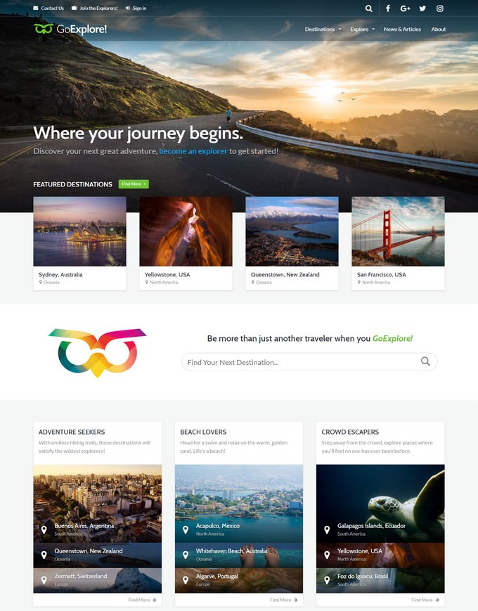 Travel WordPress PHP Theme