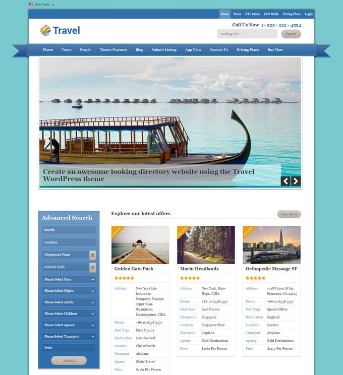 Travel PHP Template