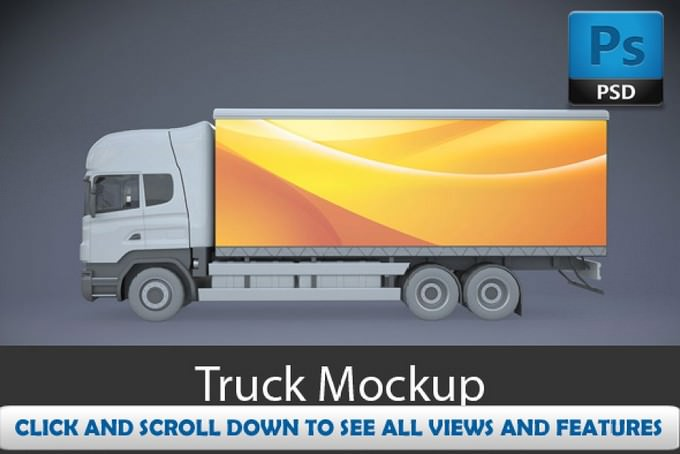 Truck Mock-Ups PSD