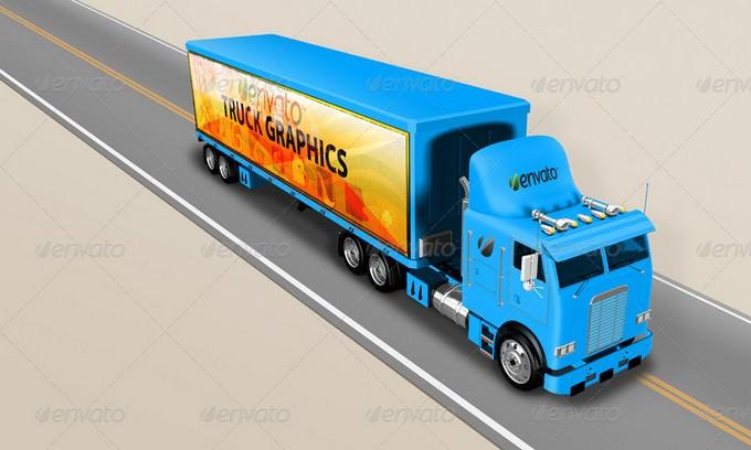 Truck Mockup 5K