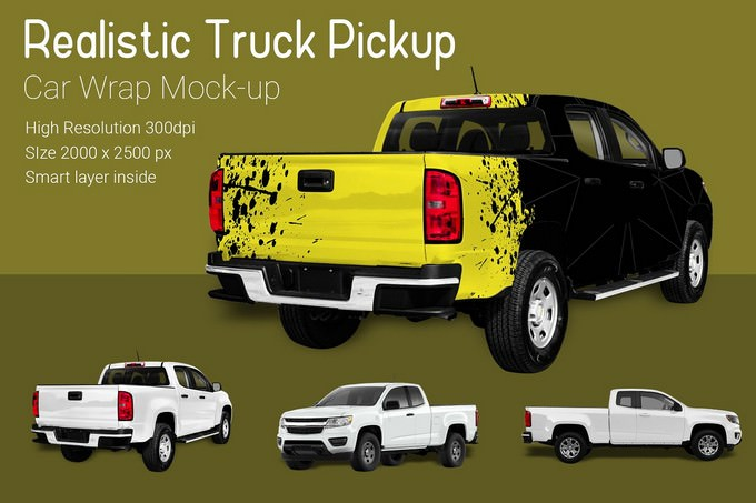 Truck Pickup Mock-Up PSD