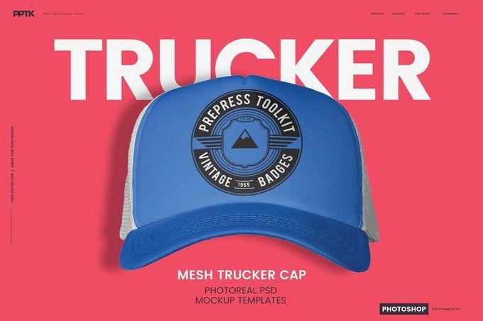 Trucker Cap Photoshop PSD