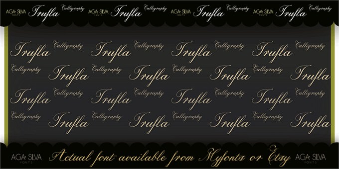 Trufla Words Font