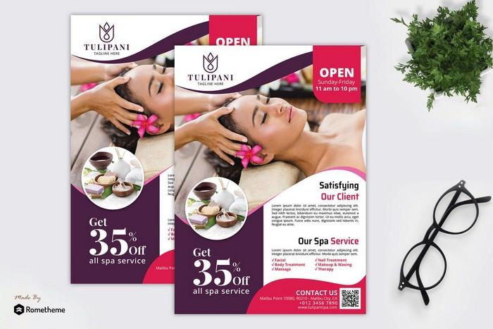 Tulipani Spa - Promotion Flyer RB