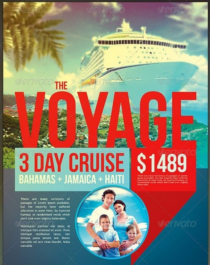 Vacation Cruise Travel Flyer