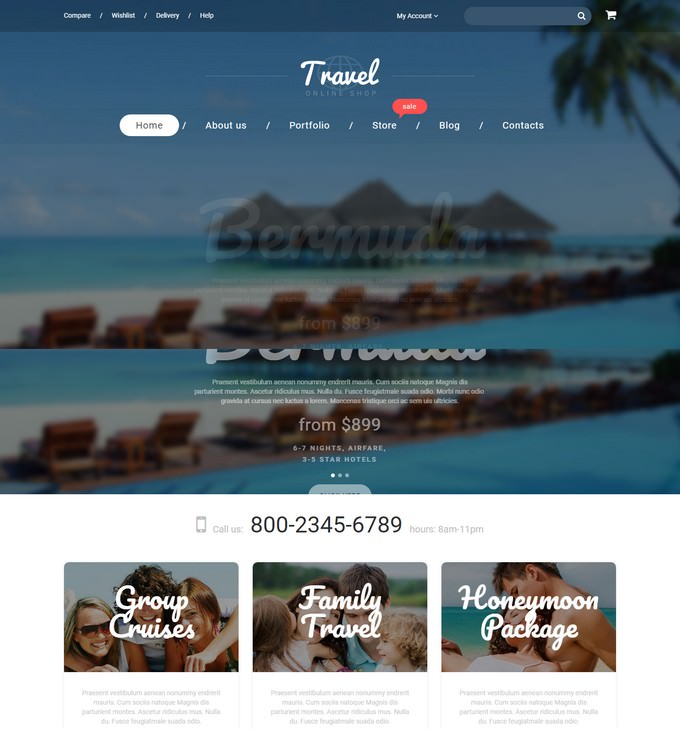 Travel Agency WooCommerce PHP Theme