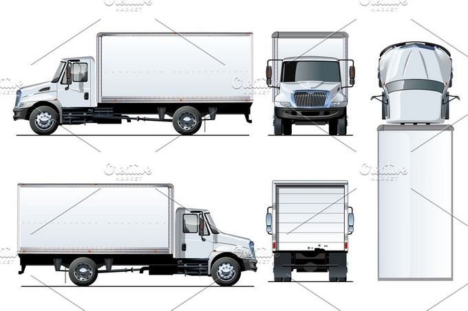 Truck Template isolated
