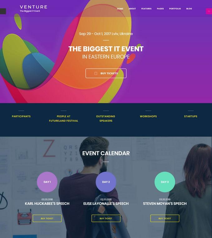 Event Planner Joomla Template