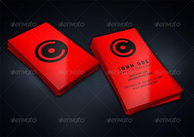 Vertical Business Card Mock-Up + Gift Card PSD