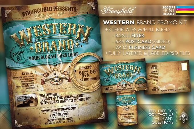 Vintage Western Brand Flyer