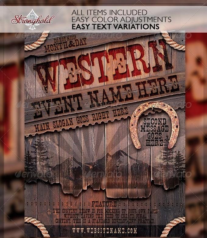 Vintage Western Wood Flyer