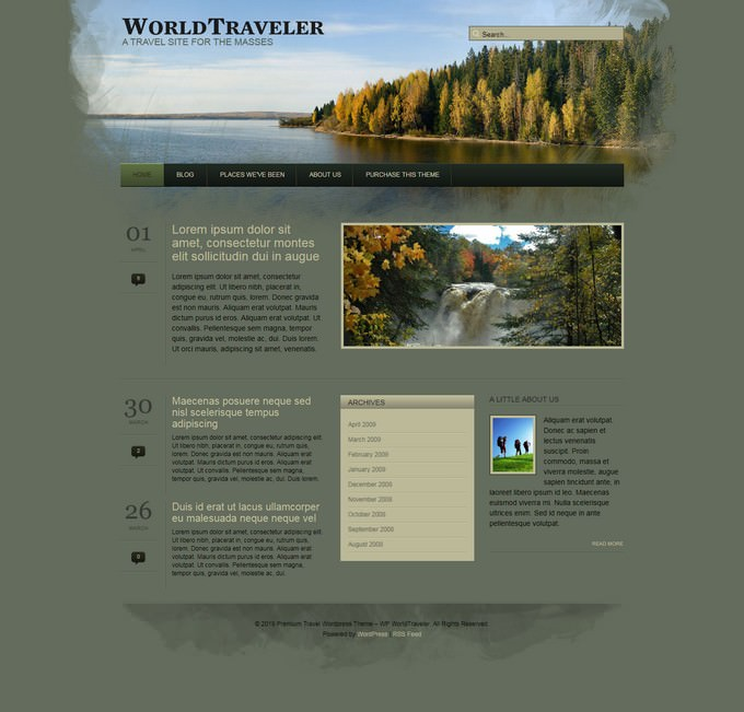 WP World Traveler PHP WordPress Theme