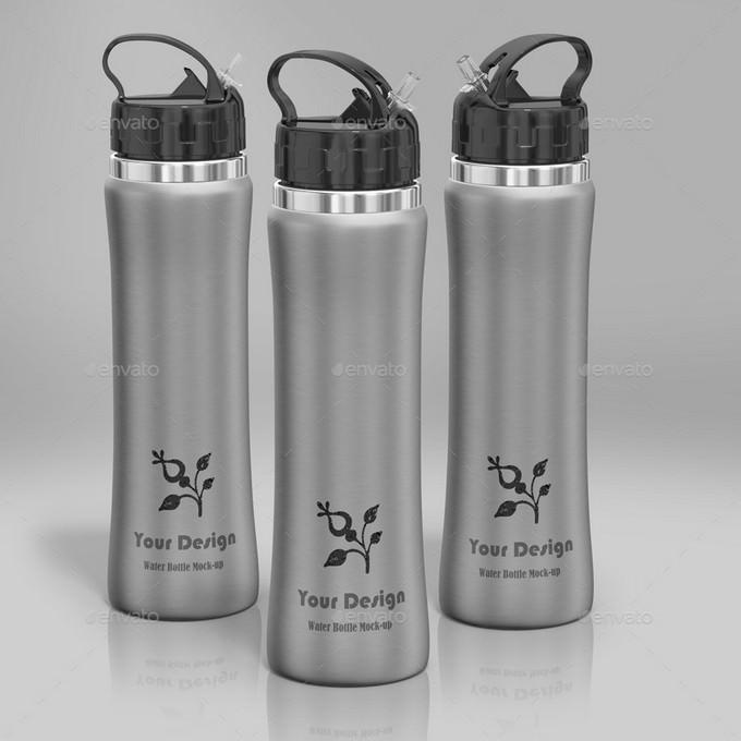 Water Bottle Mock-up PSD