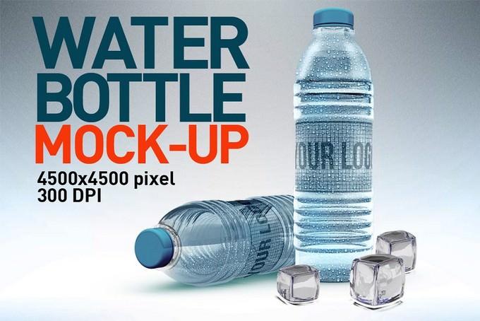 Water Bottles Mock up