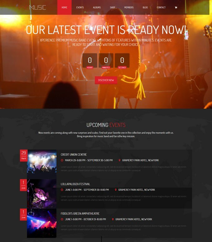 WeMusic HTML Template