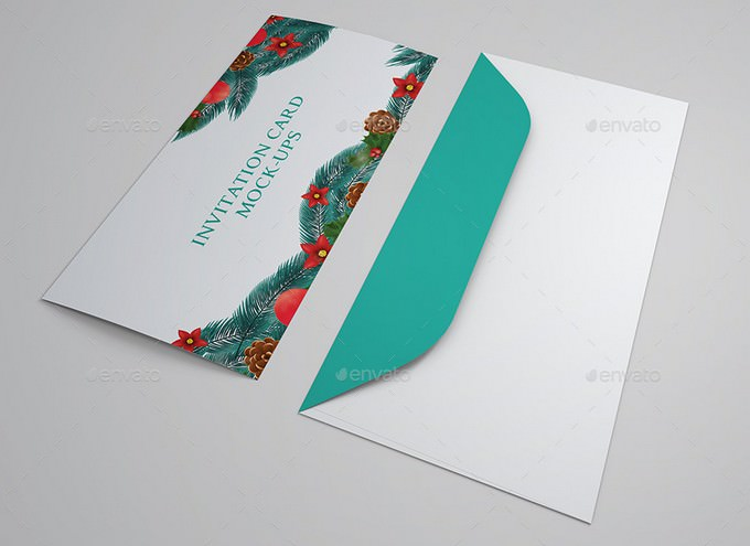 Wedding And Invitation Card Mock-Up